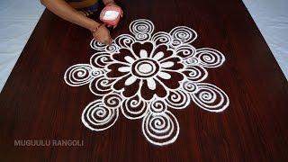 latest simple rangoli designs || muggulu designs simple || ran…