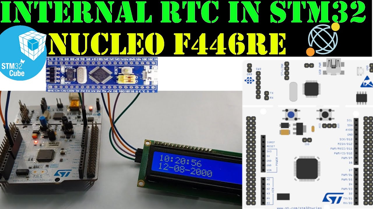 RTC in STM32 || LCD 16x2 || HAL || CubeMx