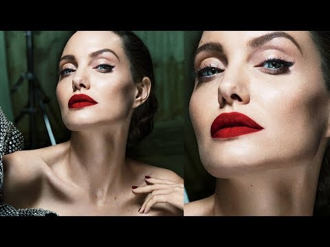 ANGELINA JOLIE Makeup Transformation | Vanity Fair 2017