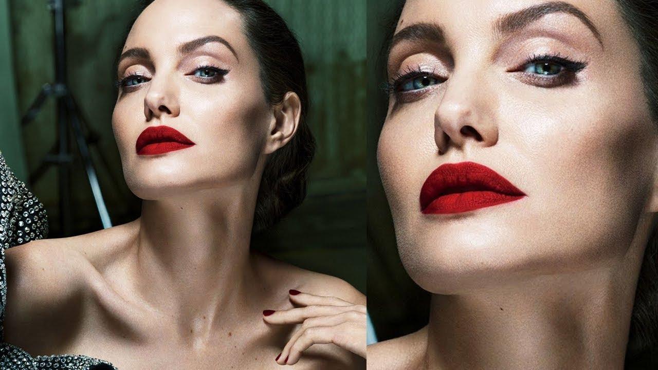 Makeup, like Angelina Jolie, step by step