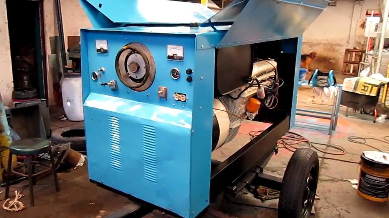soldadora generador hobart 525 amp motor dodge 6 cilindros