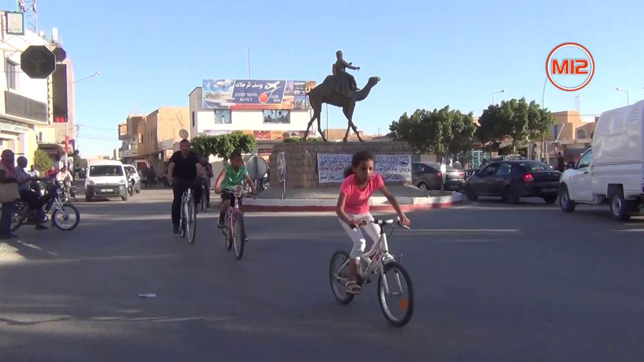 التظاهرة الختامية لتبسكيلة عشية رمضان : أطول خط دراجات من دوز للقلعة