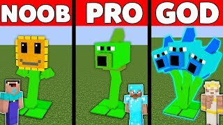 Minecraft Battle: NOOB vs PRO vs GOD : SUPER PLANTS vs. ZOMBIES WAR Challenge in Minecraft Animation