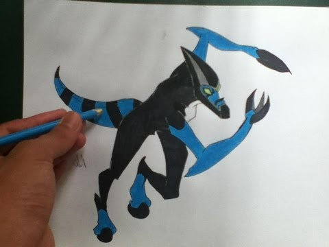 How To Draw Ben 10 Aliens-How To Draw xlr8