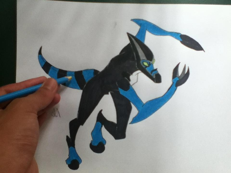 how to draw ben 10 aliens how to draw xlr8 youtube