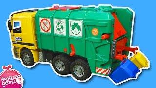 BRUDER. Мусоровоз Mercedes-Benz. Toys Garbage Truck Игрушечные машинки для детей. #Bruder Toys 01677(Мы продолжаем рассказывать про разные интересные игрушки, которые нам нравятся! Сегодня это игрушечный..., 2015-05-03T10:36:46.000Z)
