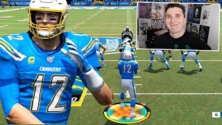 I put Tom Brady on the Chargers & played a Pats fan, he wasn't happy!