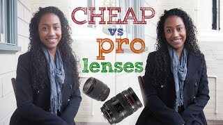 Cheap lens vs pro lens - DSRL photography tutorial
