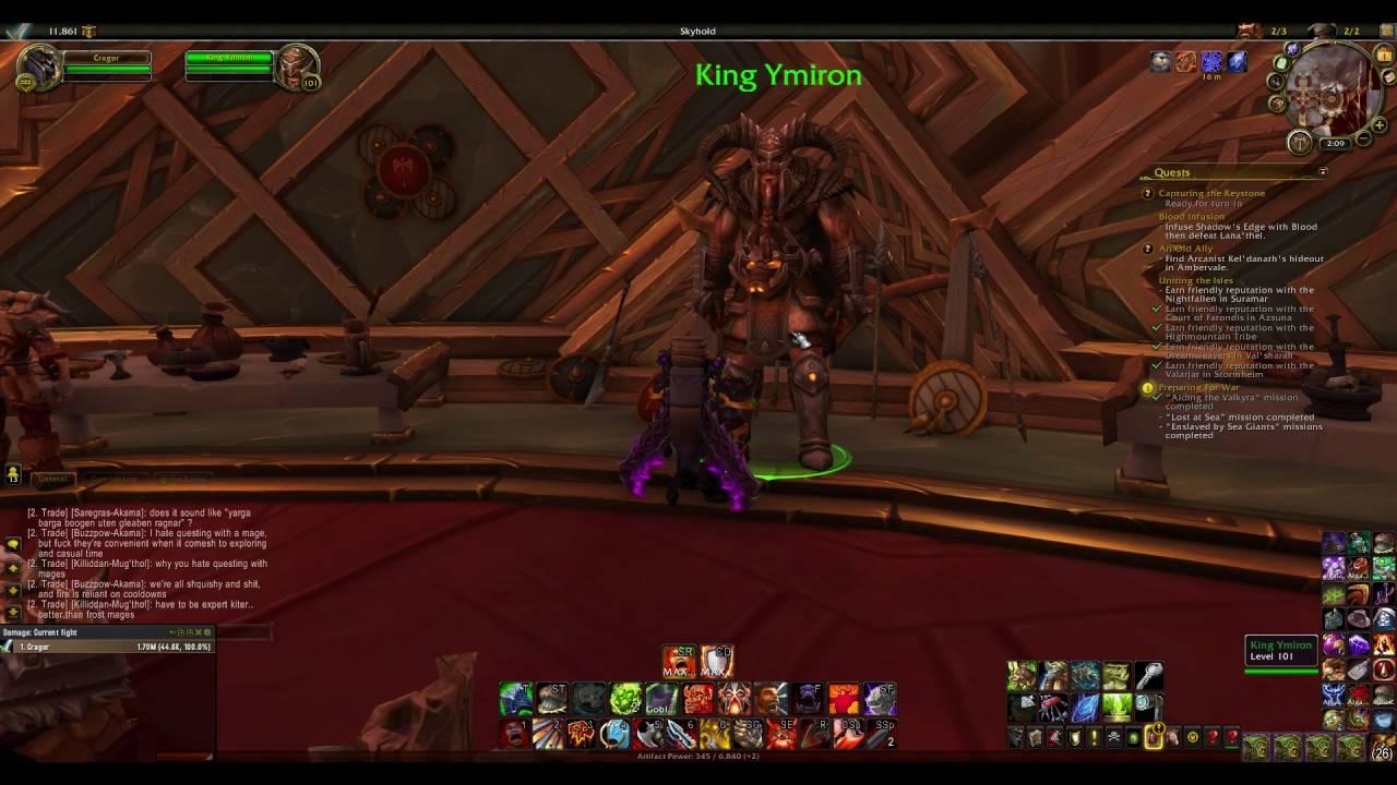 world of warcraft king ymiron follower hidden dialogue hilarious