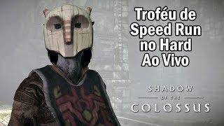 AO VIVO em Busca do Troféu do SPEED RUN no Modo Hard - SHADOW OF THE COLOSSUS de PS4!