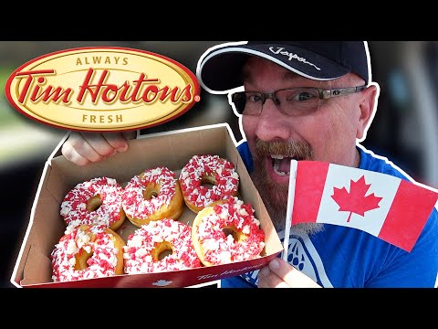 Tim Hortons Fireworks Donut On Canada Day 🇨🇦🍩in 4K