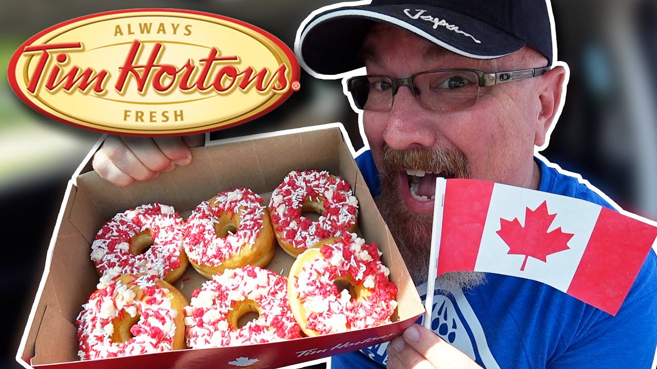 Tim Hortons Fireworks Donut on Canada Day ????????????in 4K