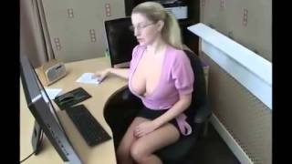 Repeat youtube video Girl DownBlouse Receptionist HD 2