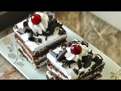 Black Forest pastry recipe eggless Black Forest cake recipe