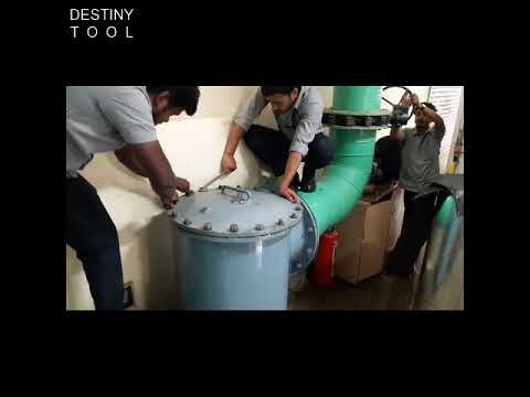 Water Cooled Chiller Condenser strainer Cleaning