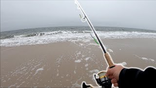 LAST TRIP Of The Season! - December Surf Fishing W/ LIGHT TACKLE - Long Island NY