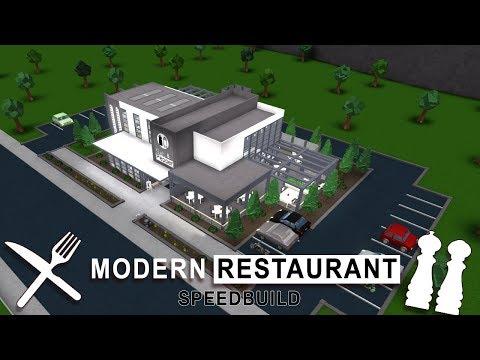 Roblox Bloxburg | Modern Restaurant Speedbuild