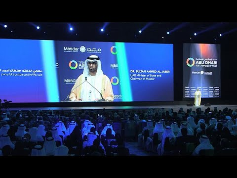How is Abu Dhabi Sustainability Week encouraging young green entrepreneurs?