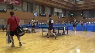 H26松山卓球選手権フォーティー決勝田中(フォーネット)VS森(プチタミ)