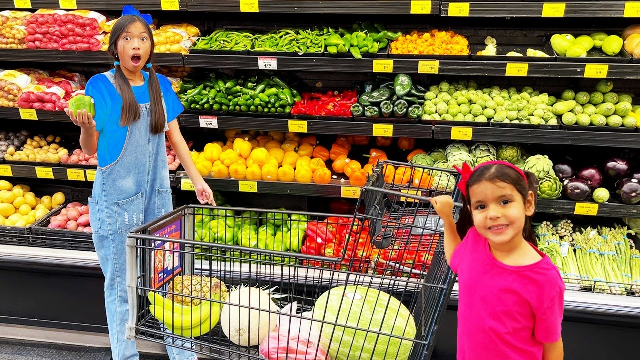 Download Wendy and Ellie Go Grocery Shopping   Kids Learn Healthy Food Choices