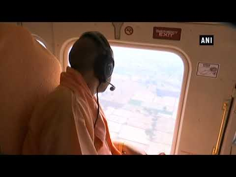 CM Adityanath undertakes aerial survey of dust storm affected area in UP - Uttar Pradesh News