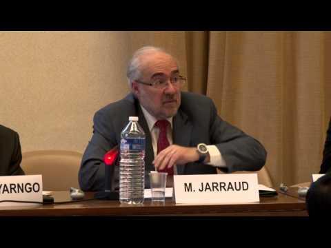 Michel Jarraud, UN-Water, addresses the Geneva meeting on water in the Post-2015 Development Agenda