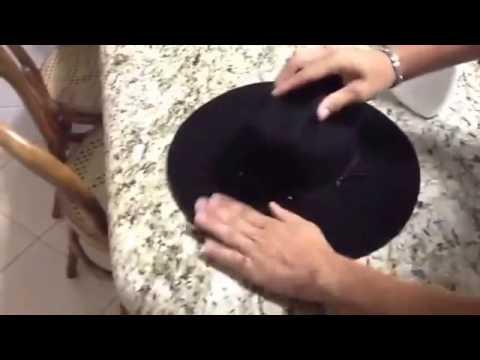 f821b15c26ff6 Como Formar Chapéu de Feltro - YouTube