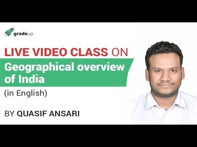 Geographical Overview of India| Geography for SSC & other Exams|English| General Studies for SSC