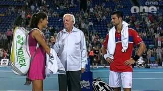 Video Ana Ivanovic Novak Djokovic post match interview download MP3, 3GP, MP4, WEBM, AVI, FLV Agustus 2018