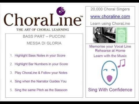 Bass Part PUCCINI MESSA DI GLORIA