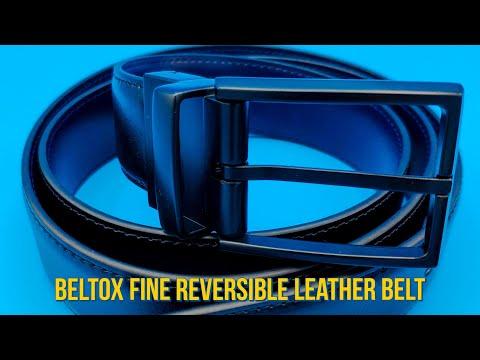 Beltox Fine Reversible Leather Belt For Men/ Двухсторонний мужской кожаный ремень с AliExpress