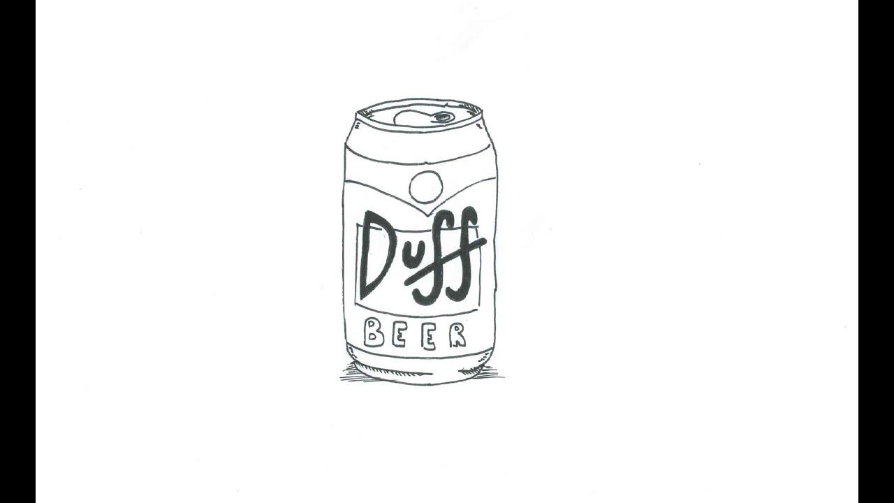 Botella De Cerveza Dibujo: Como Dibujar Una Cerveza Duff (Los Simpson) (rápido