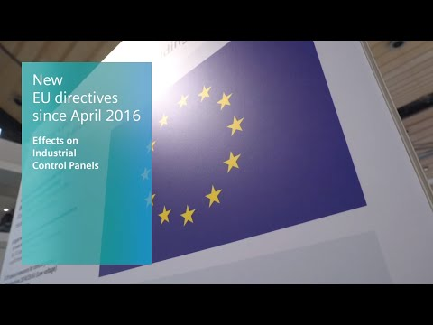 Industrial Control Panels - New EU directives since April 20