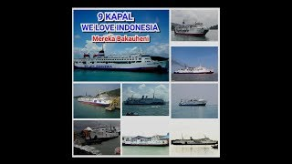 Download Video 9 KAPAL DARI PT.JEMBATAN NUSANTARA || Di pelabuhan merak ~ Bakauheni MP3 3GP MP4
