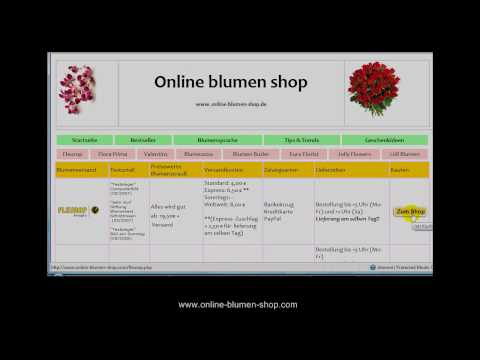 blumen verschicken blumenversand blumen online youtube. Black Bedroom Furniture Sets. Home Design Ideas