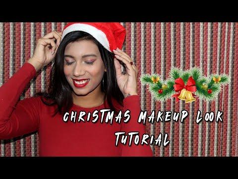 Christmas Music + Makeup Look Tutorial | Holiday Season | Vanshika Goel thumbnail