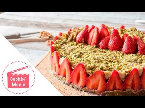 gâteau-fraisier-vegan-►-dessert