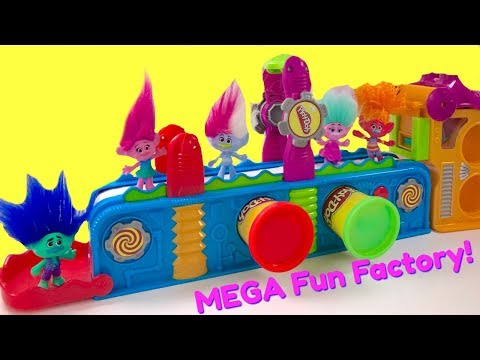Thumbnail: Trolls Movie Poppy Branch Play Doh Mega Fun Factory Machine Conveyor Toy Play Dough | Fizzy Toy Show