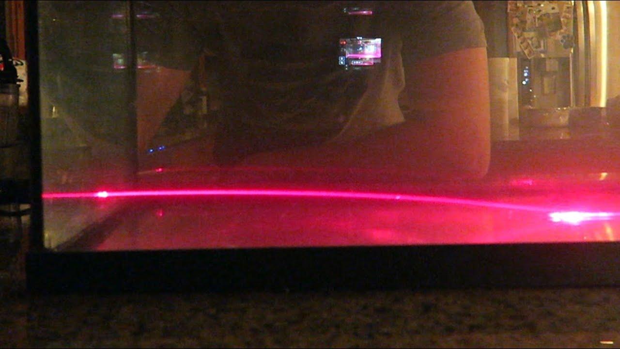 Bending of light - Laser Science Experiment