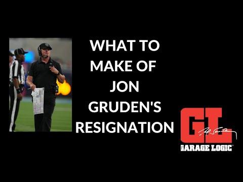 The Garage Logic crew on Jon Gruden's resignation from the Las Vegas Raiders