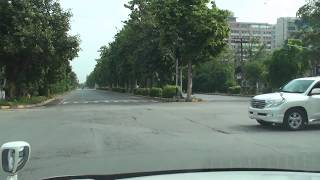 Driving on Main Boulevard Gulberg, Lahore, Pakistan