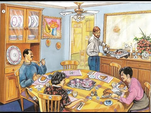Oxford dictionary  Lesson 29: A Dining Area  Learn ...