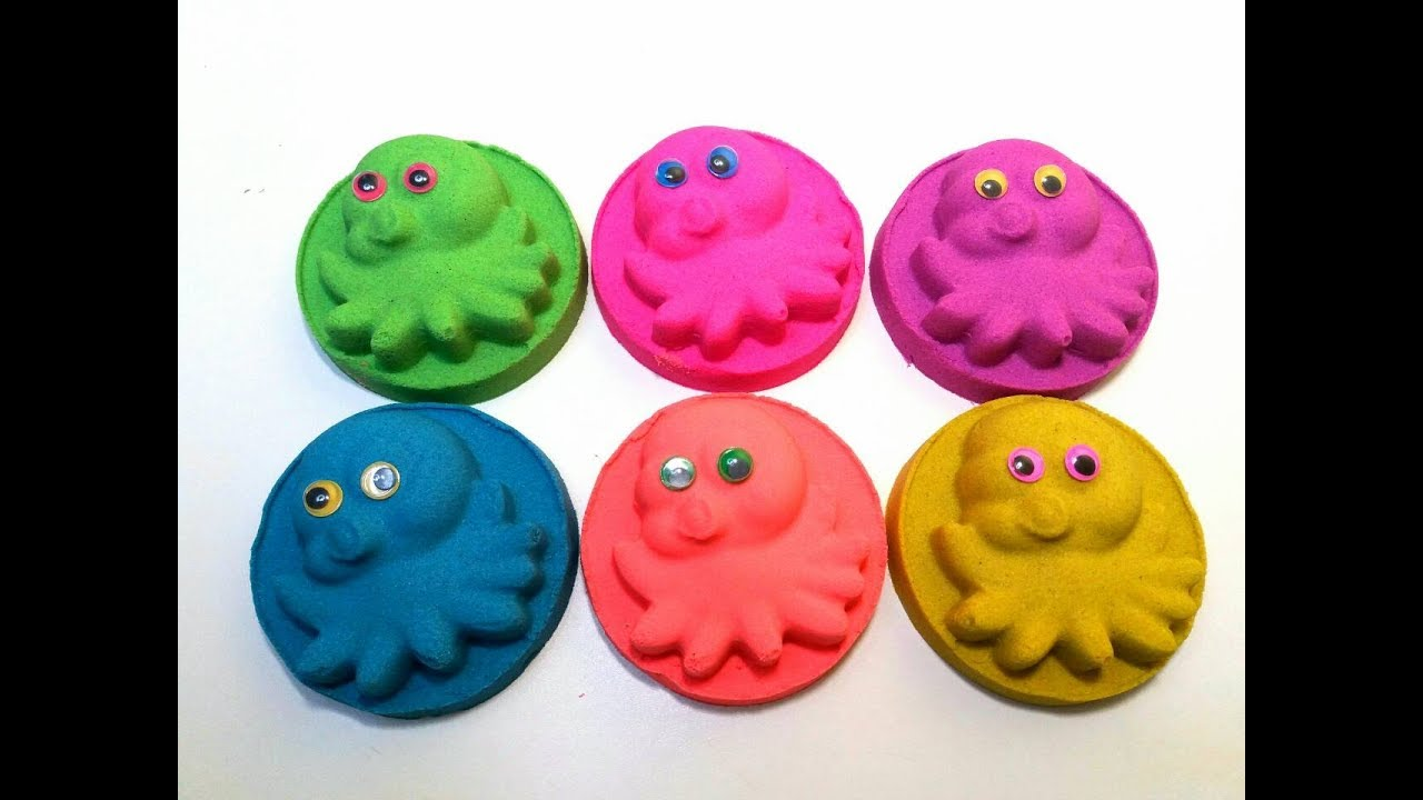 Kinetic Sand Octopus Learn Colors with Fun Toys Spongebob Cars Smurfy Toys