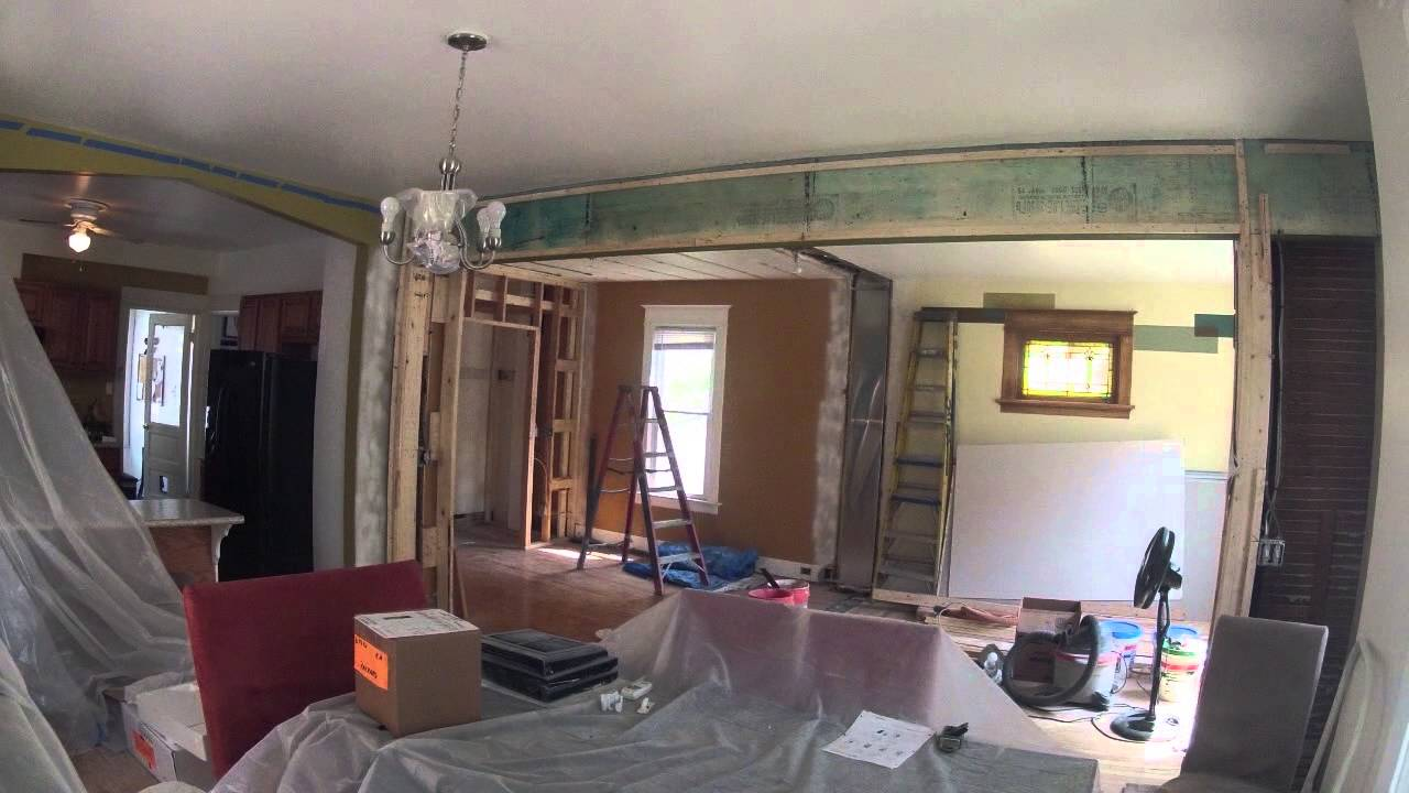 House Living Room Remodel Time lapse - YouTube