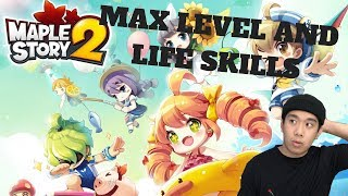 MAX LEVEL AND LIFE SKILLS - Maplestory 2 (PC) Live Stream and More!