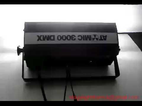 3000w strobe light testing Martin ATMOIC DMX 512 Light