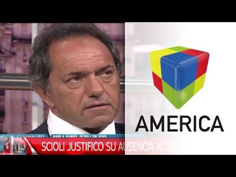 Daniel Scioli explicó su ausencia en el debate