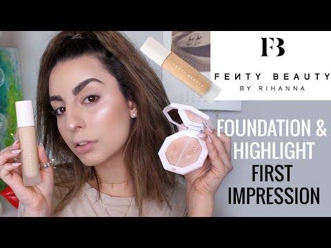 Fenty Beauty Foundation + Highlight First Impression!
