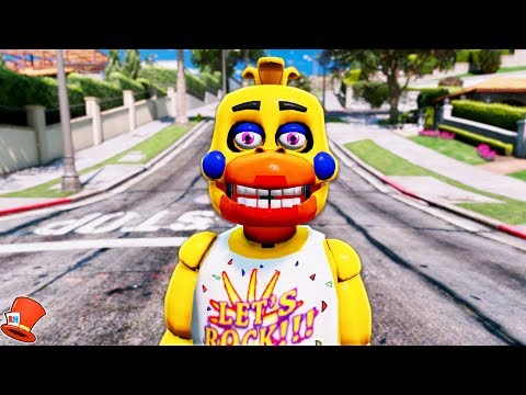 BRAND NEW ROCKSTAR CHICA FNAF 6 (GTA 5 Mods For Kids FNAF Redhatter)