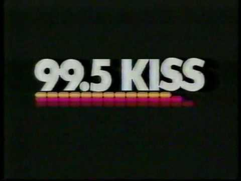 99.5 KISS FM radio TV commercial from 1985